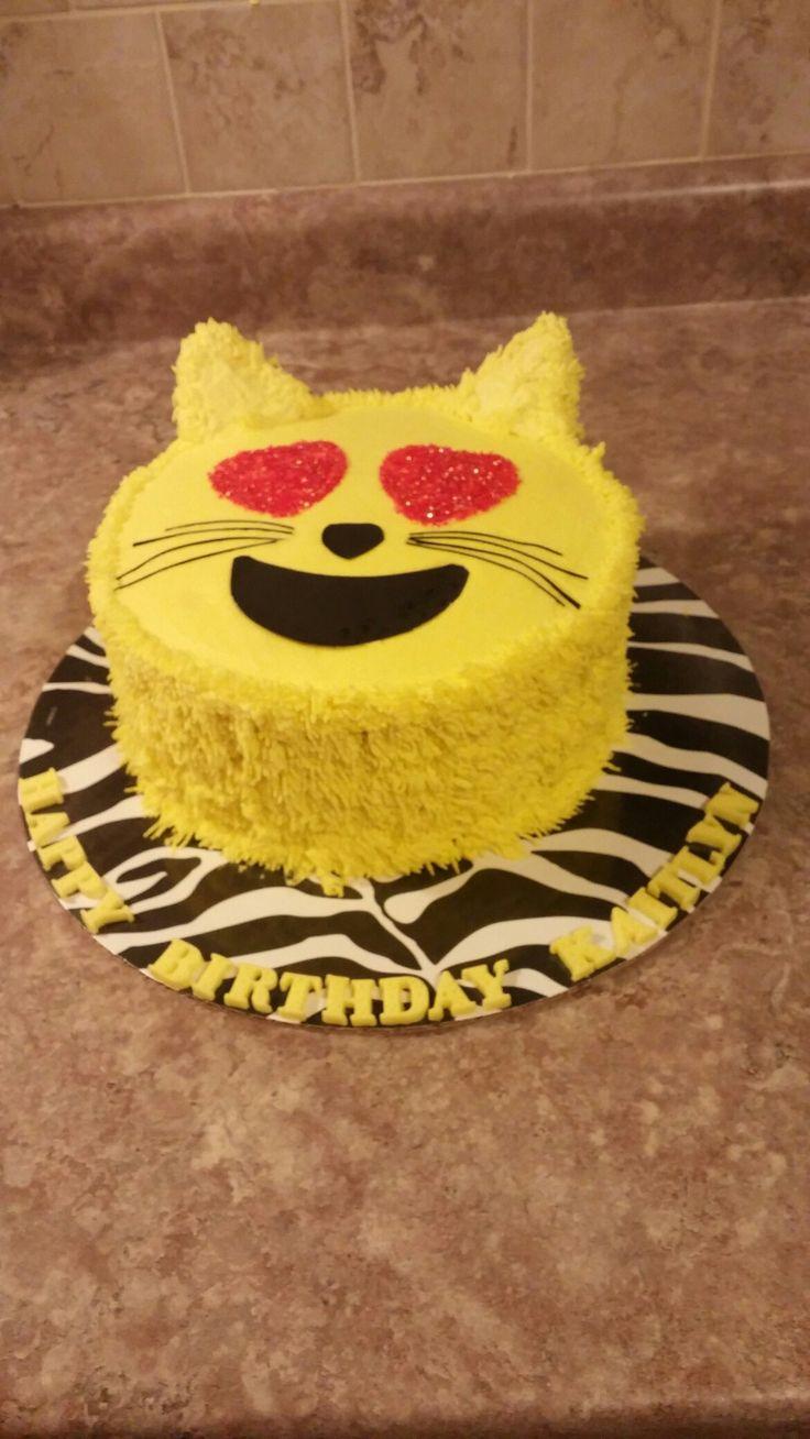 Emoji cat cake