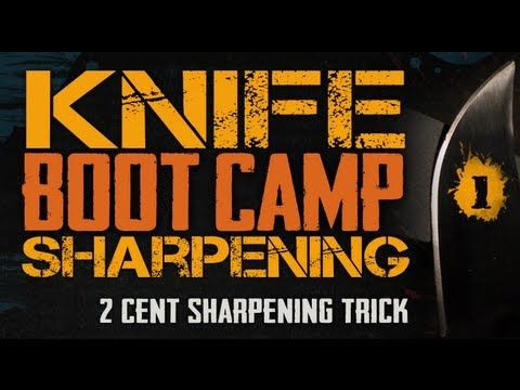Easily Sharpen Any Knife - Two Cent Sharpening Trick - Knife Sharpening Boot Camp #1