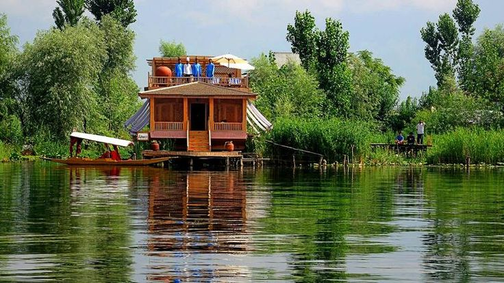 The Sukoon, moored on Dal Lake, is Kashmir's most luxurious houseboat.