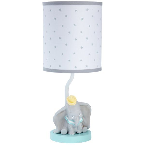 This Dumbo Dream Big 15 85 Table Lamp Will Brighten Any Nursery With His Sweet Smile Dumbo Has Big Dreams With Thi Big Lamp Nursery Decor Lighting Baby Dumbo