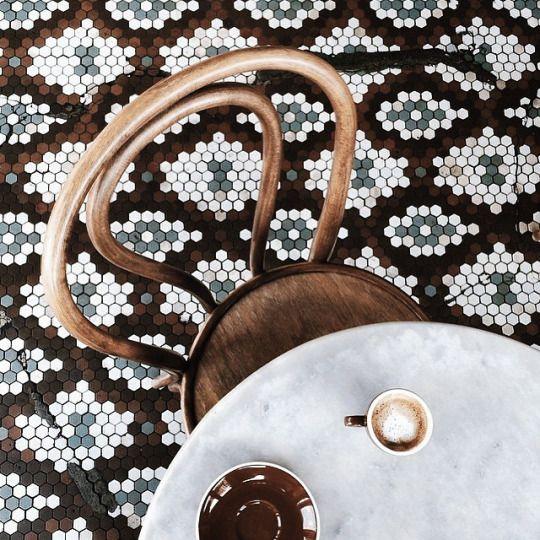 carrelage sol mosaïque #tiles #renovation #floor #inspiration #pepperbutter…