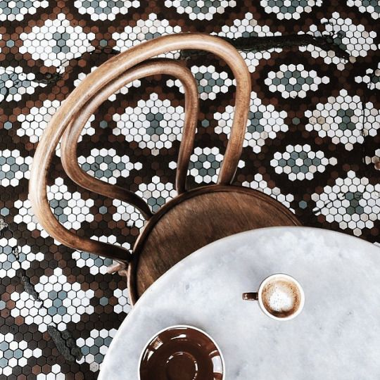 carrelage sol mosaïque #tiles #renovation #floor #inspiration #pepperbutter…