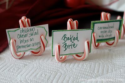 industrious justice: How: Candy Cane Place Card Holders