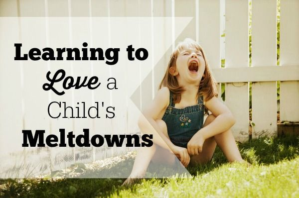 Learning to Love a Child's Meltdowns