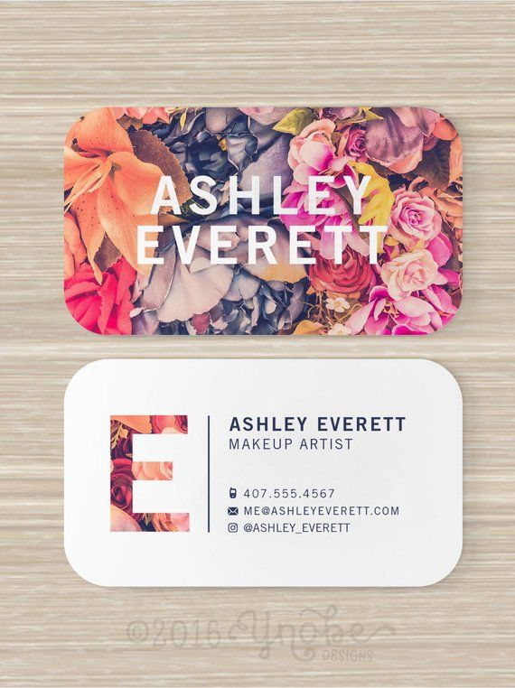 floral business card flowers