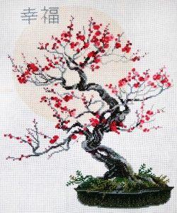 Riolis cross stitch kit. Bonsai of Sakura.