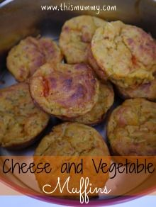 Cheese and vegetable savoury muffins