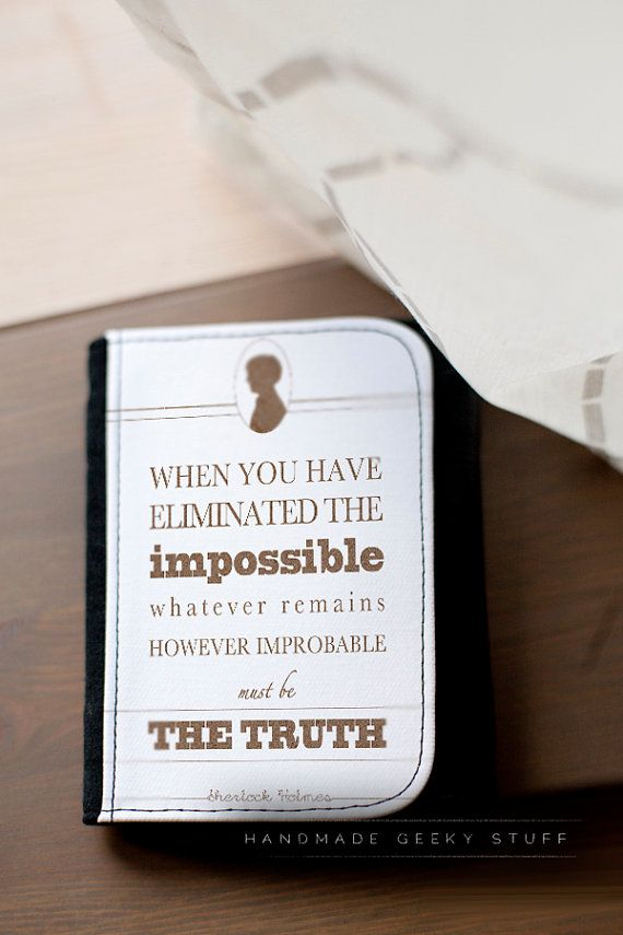 Sherlock Holmes quote wallet / many sizes by littlegeekeryshop