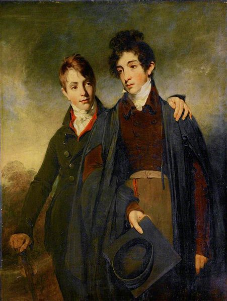 William Owen Double portrait of George Soane and his elder brother John Soane Junior. 1805