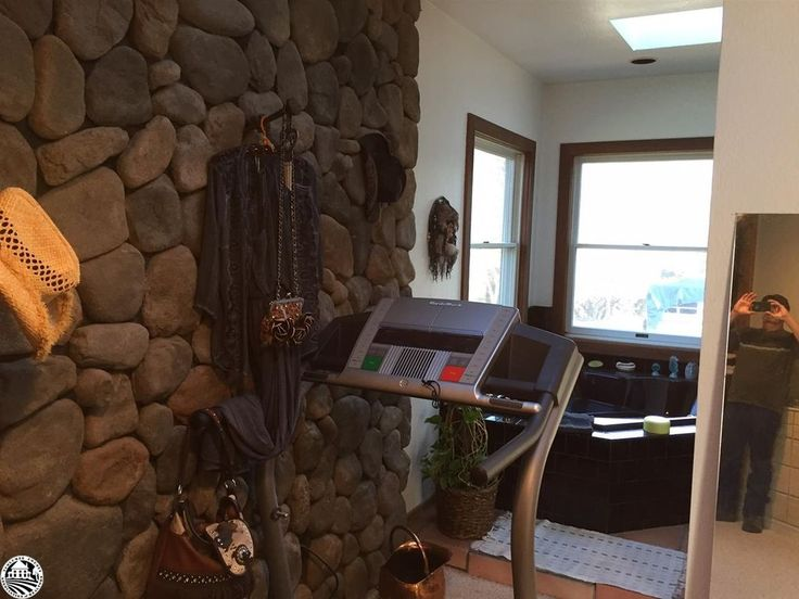 Use my railroad ties for hooks on the new mantel.    20481 Half Mile Rd, Tuolumne, CA 95379 | MLS #20162033 - Zillow