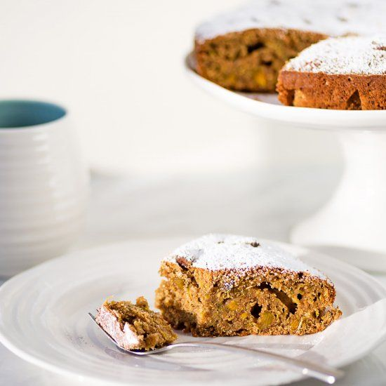 Healthier than traditional cakes, this Pistachio, Orange & Zucchini Cake is dairy free and rich in protein.