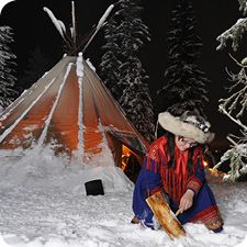 Cooking and cleaning Lapland style