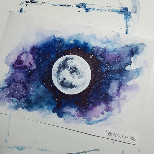 1000 ideas about watercolor galaxy on pinterest
