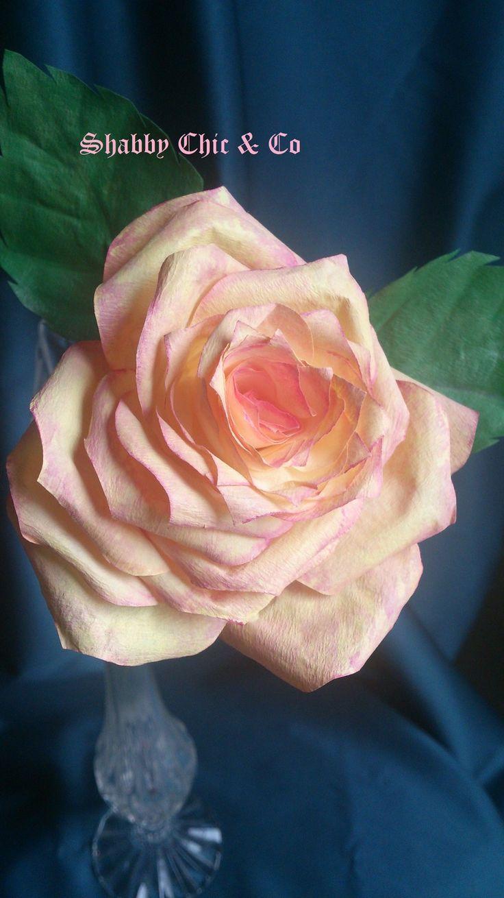 """Rose """"Jaune Rosée"""" . Tout le charme d'Antan pour cette superbe fleur. : Accessoires de maison par shabbychicandco"""