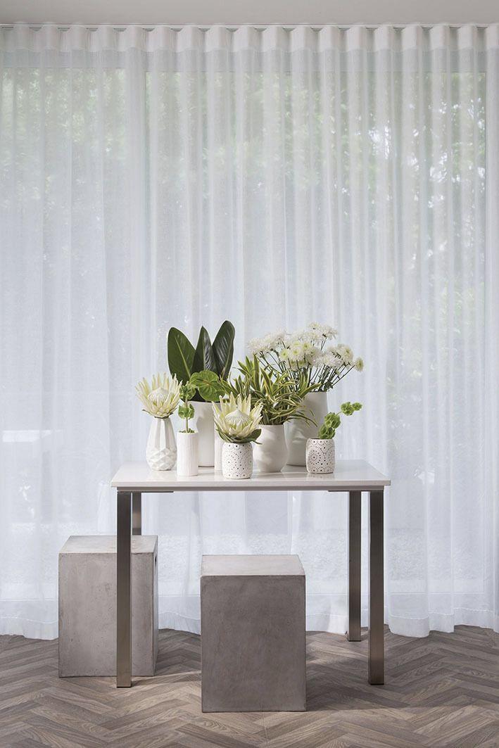 S fold or ripple fold sheer curtains
