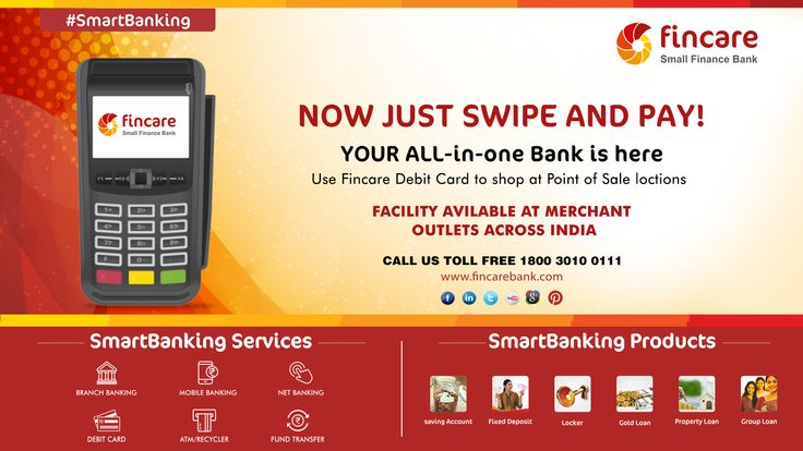Now Just Swipe And Pay! Your allinone bank is here Use