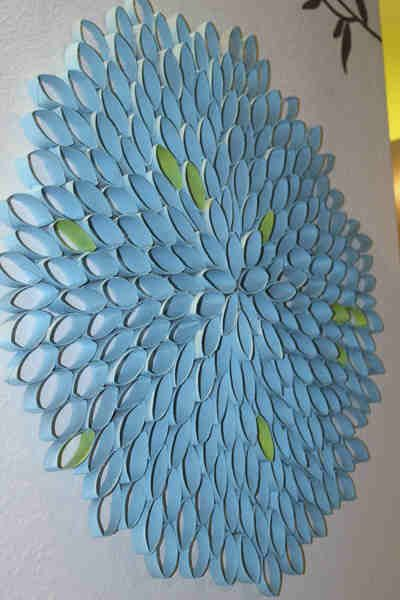 diy toilet paper roll art   Toilet Paper Roll wall art. Wonderful recycling / low-cost art.http ...