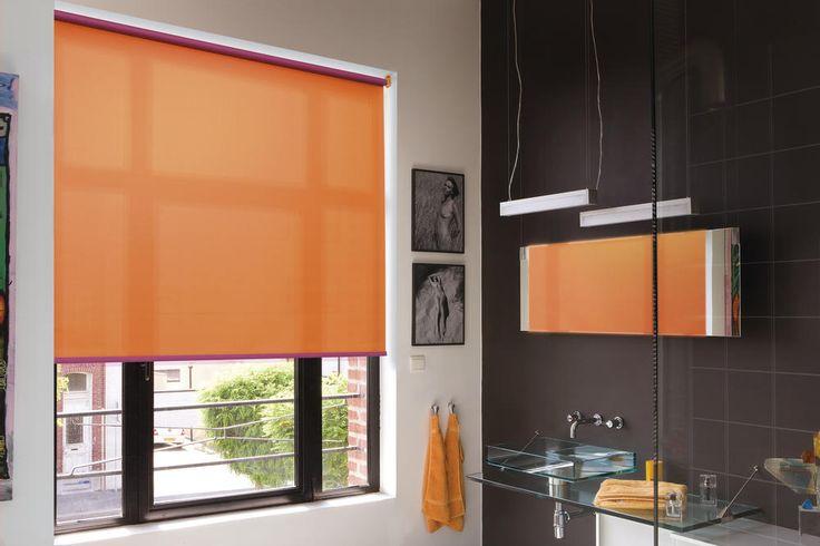 rolgordijn in de badkamer - stores enrouleurs  - Copahome raamdecoratie