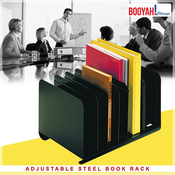 #GenuineImportedProductsDirectFromUSA Only at http://Booyahchicago.com STEELMASTER Adjustable Steel Book Rack. Buy Now: https://tinyurl.com/yaox9as6 #OfficeSupplies #SchoolSupplies