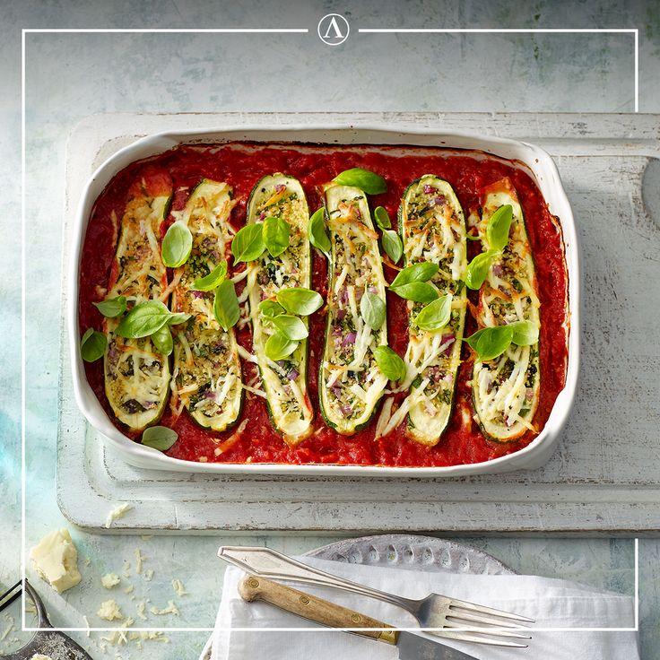 Zucchini Stuffed with Haloumi & Fresh Herbs  #summerrecipes #easyrecipes #Mediterranean #cheese #Lemnos