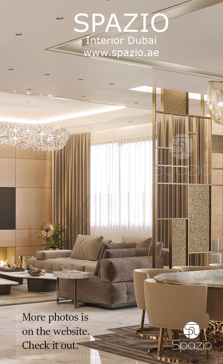 Luxury interior design for living room in Dubai house. Our luxury design and decorating services are available in Dubai and the UAE, Saudi Arabia and other countries of the Gulf region. Check out our web site to get more luxury interior design ideas for Dubai houses.