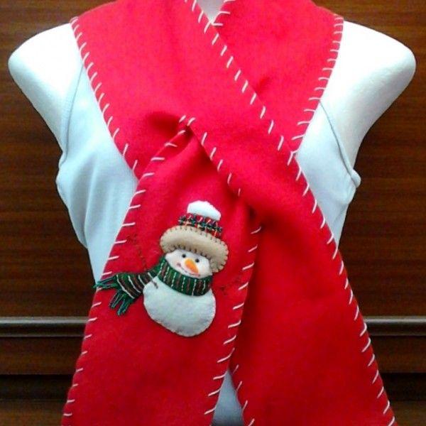 BN-009 -Bufanda navideña hecha en fleese para niños y adultos