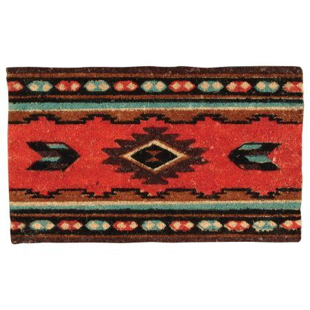 Zuni Coir Southwestern Doormat - Western Decor