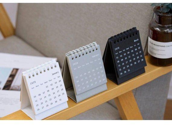 2020 Standup Desk Calendar Monthly Calendar Small Calendar Minimum Style Calendar Small Calendar Desk Calendars Stand Up Desk