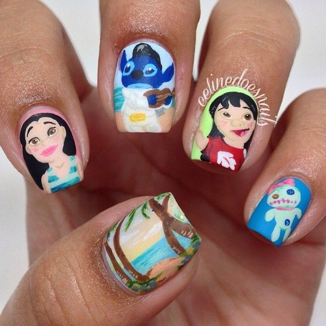 Nail Art Stitch: 587 Best Images About Disney Nail Art. On Pinterest