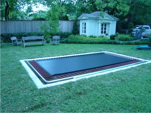 inground trampoline pit 3 backyard pinterest in ground trampoline backyard trampoline and. Black Bedroom Furniture Sets. Home Design Ideas