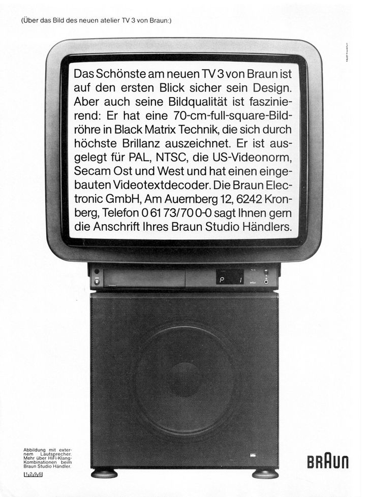 This ad is from the January 1986 issue of German design magazine architektur & wohnen. (from: Braun atelier)
