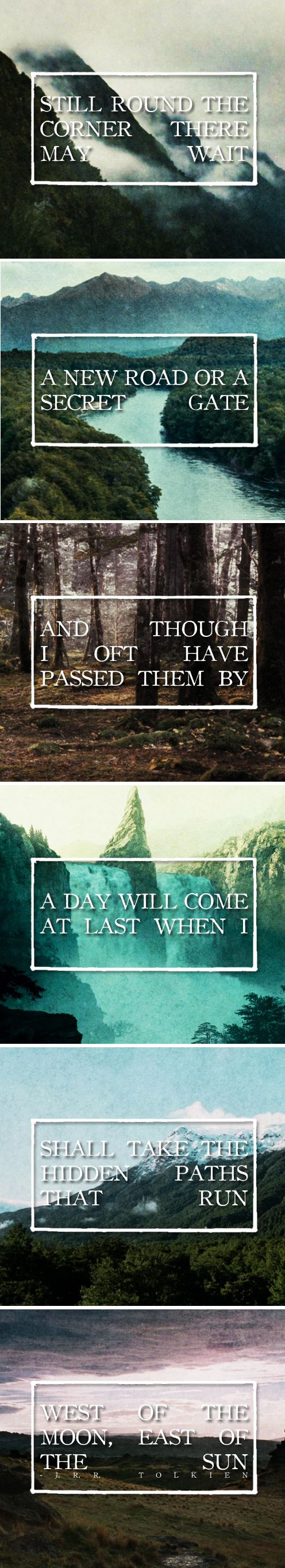 17 best ideas about jrr tolkien tolkien hobbit and still round the corner there wait a new road or a secret gate and though · j r r tolkien