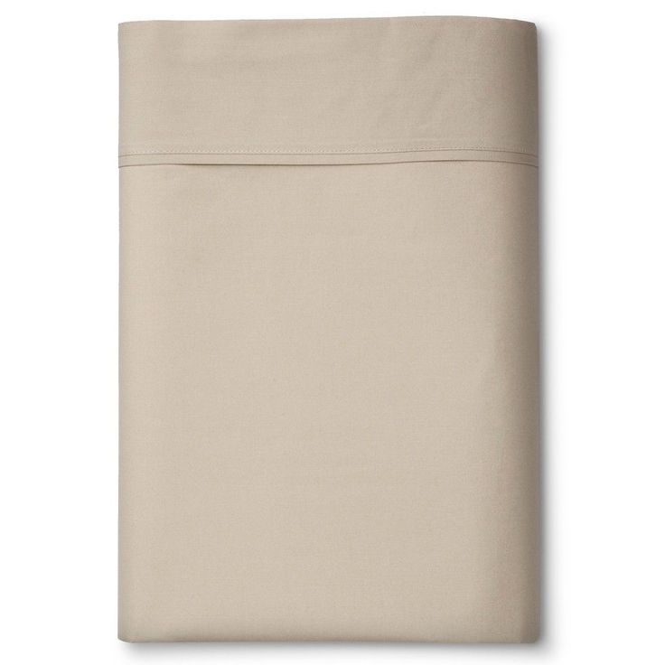 Ultra Soft Flat Sheet (Twin XL) Brown Linen 300 Thread Count - Threshold