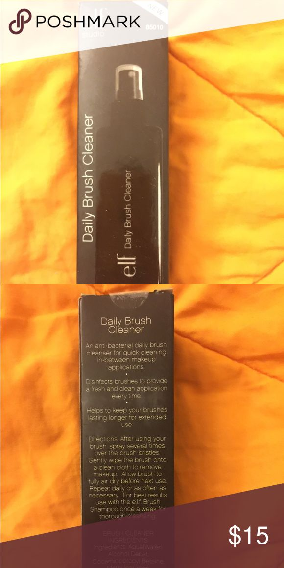 Elf daily brush cleanser Never been used/open. Pump type, full sized.  Perfect for everyday used ELF Makeup Brushes & Tools
