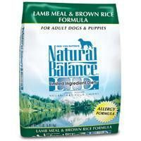 Natural Balance Limited Ingredient Diet Lamb Meal & Brown Rice Dry Dog Food 28 lb.