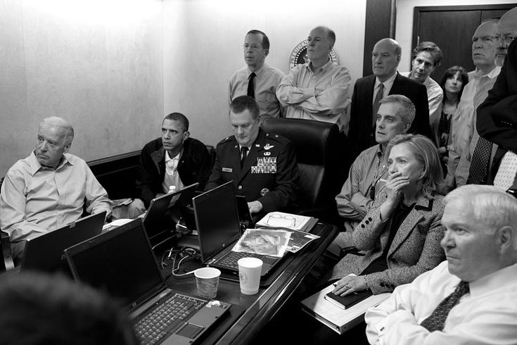 Obama In White House Situation Room Photograph