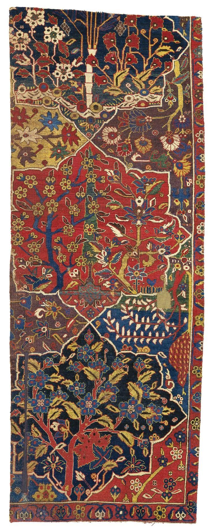 Lot 92| Sotheby's Rug Sale Northwest Persian Garden Carpet Fragment