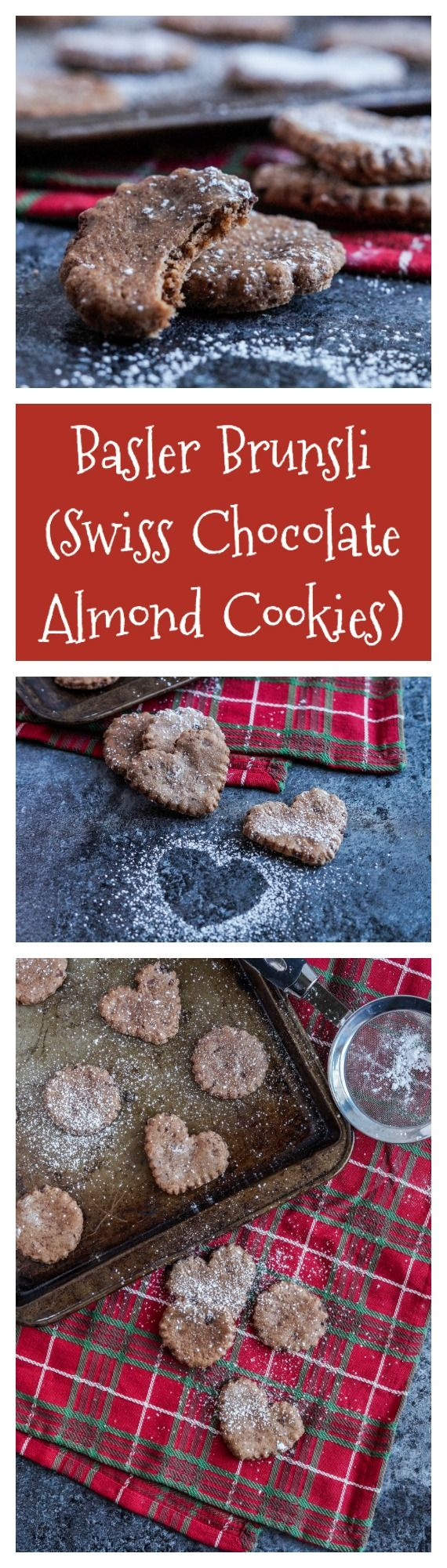 Basler Brunsli (Swiss Chocolate Almond Cookies) for #IntnlCookies  #glutenfree #cookie #cookies #basler #brunsli #swiss #switzerland #chocolate #almond #christmas #winter (bake sale cookies heavens)