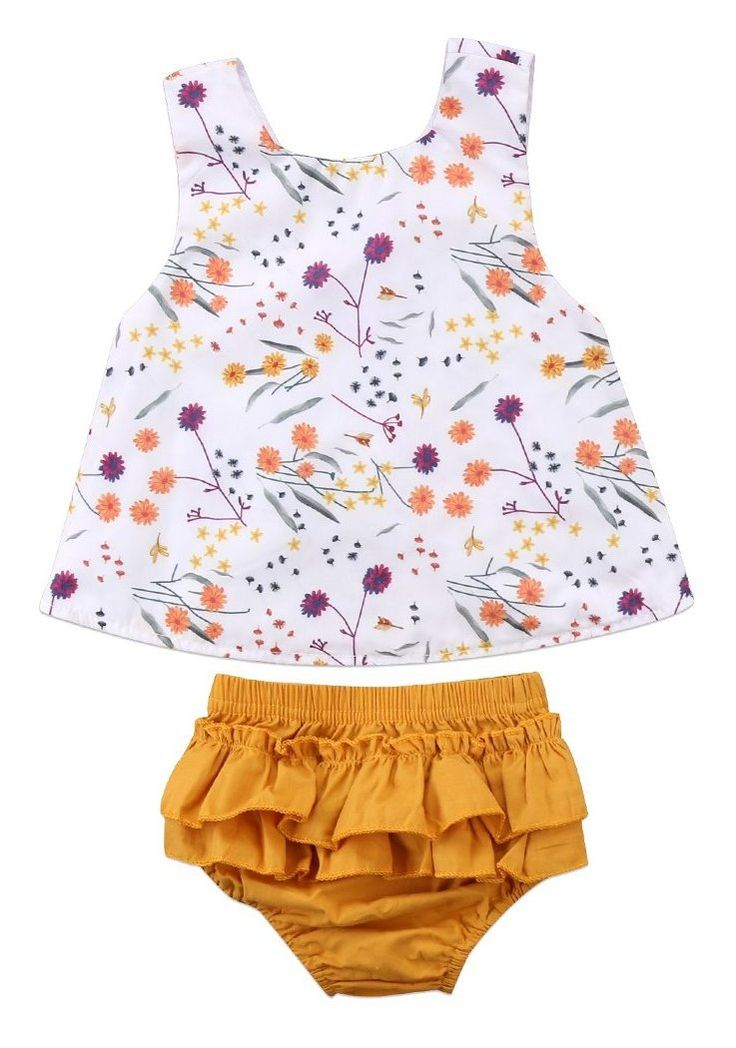 Touch Of Yellow Baby Girl Summer Set