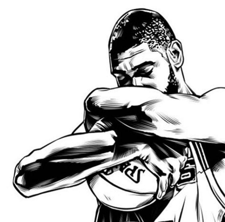 Tim Duncan Legend Sketch