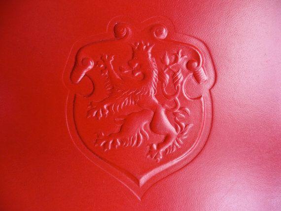 Retro Red Vinyl Document Wallet Stylish 1960s Design