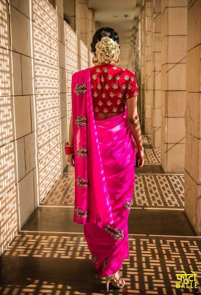 India silk house. pretty in pink. sari. saree. Indian fashion. South Asian fashion.