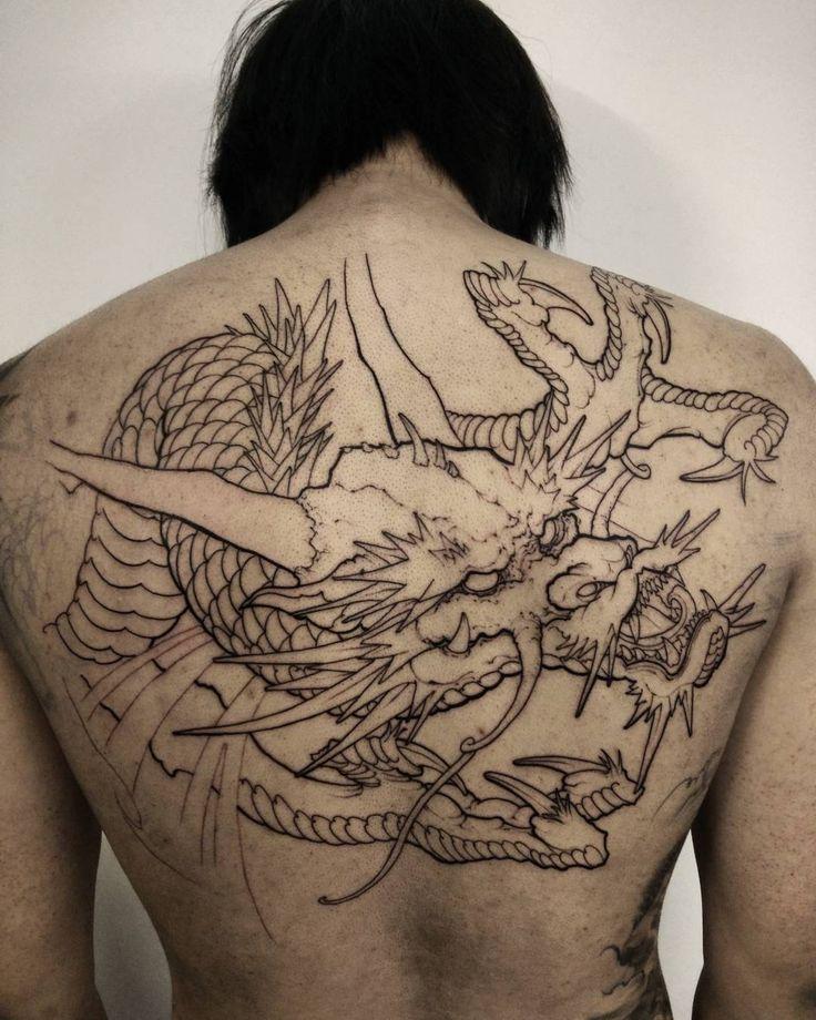 Half back dragon in progress. #chronicink #asianink #tattoo #irezumi #dragon