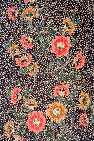 Pics of Image of Indonesian batik sarong pattern.