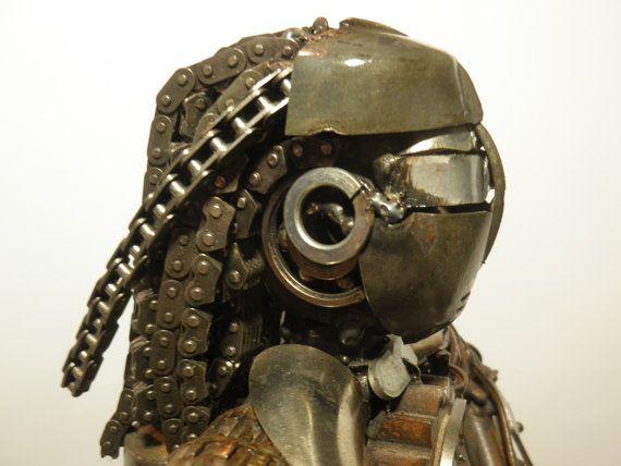 Alien Rasta metal robot/ Metal sculpture / by AtelierIslandArt