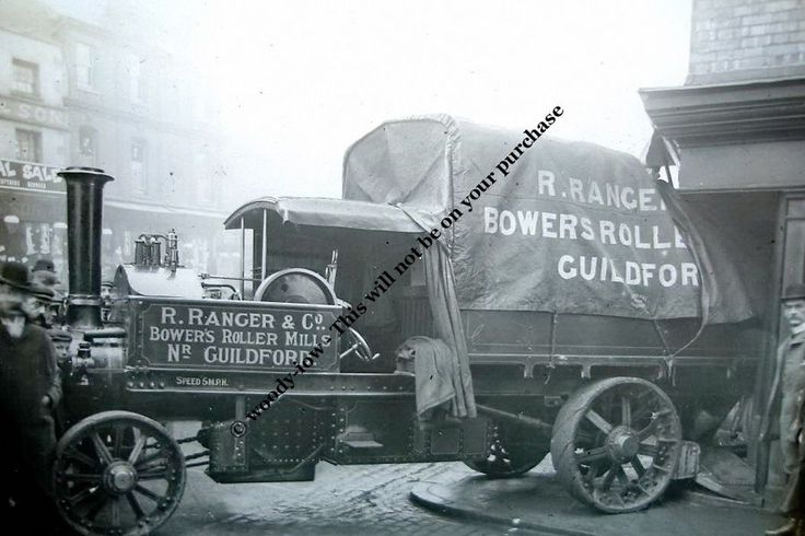 rp12937 - Steam Lorry Accident , Guildford , Surrey - photograph 6x4 in Collectables, Postcards, Transportation | eBay
