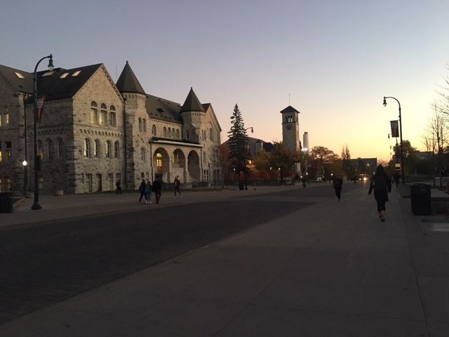 Dusk at Queen's University, Kingston