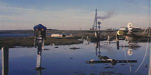 Harold and Maude 1971. Scenes filmed at the mudflats sculptures located west of 80/580 highway in Emeryville California between Powell and Ashby Street exits