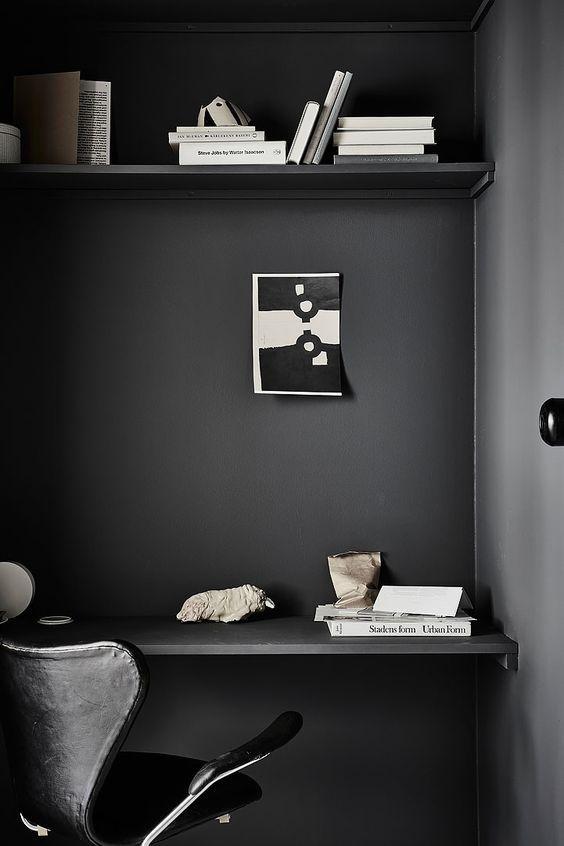 bureau total look noir