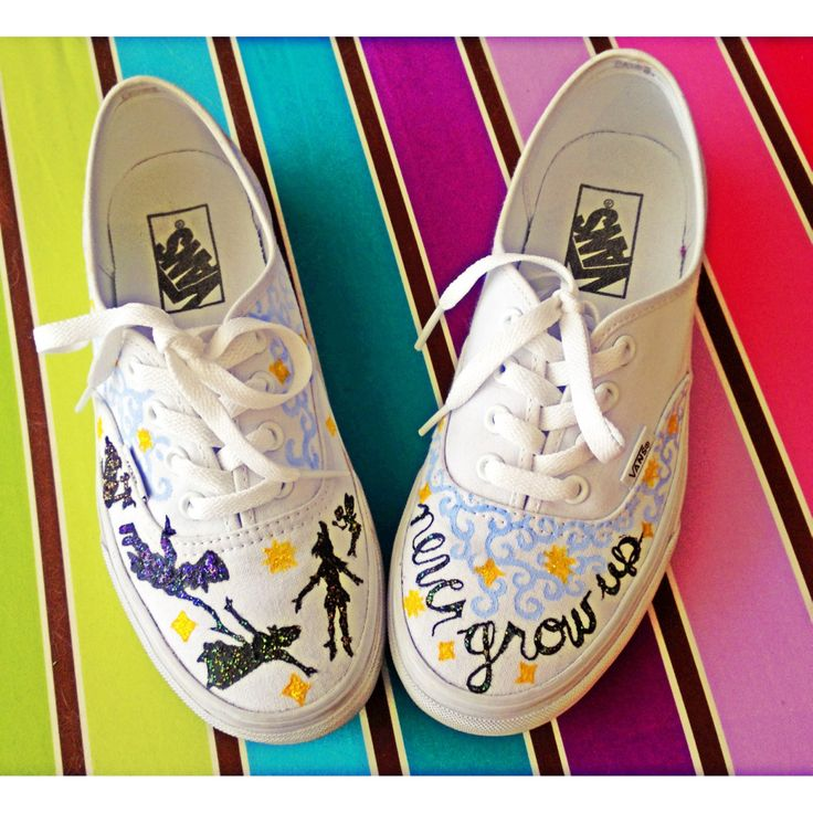 Peter Pan hand-painted shoes
